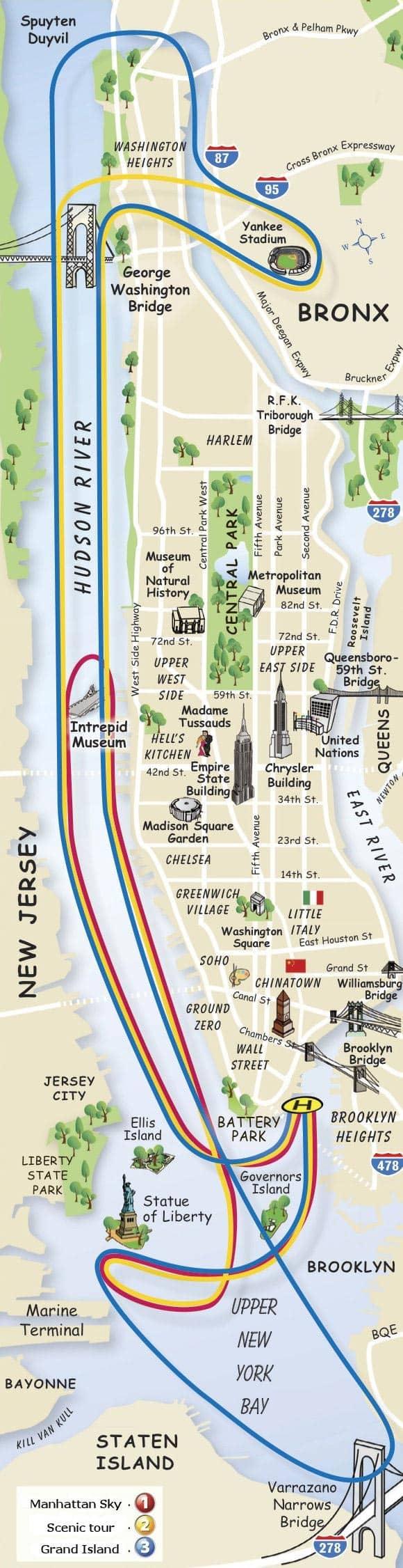 new york helikopter plattegrond