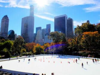 Schaatsen in New York - Central Park