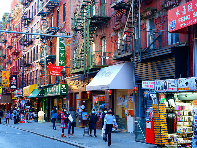 Chinatown in New York - Winkels