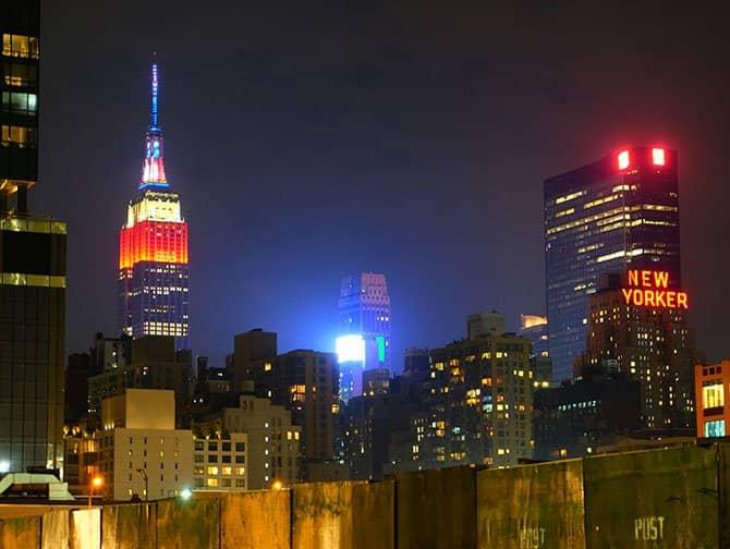 Midtown Manhattan New York - Empire State Building 's avonds