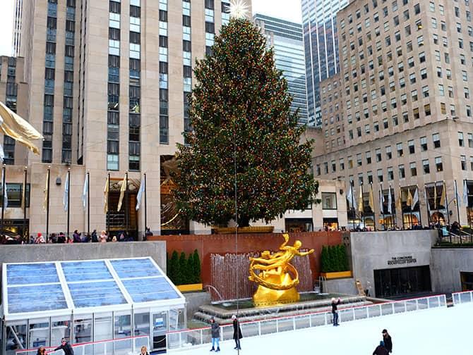 Midtown Manhattan New York - Rockefeller Schaatsbaan