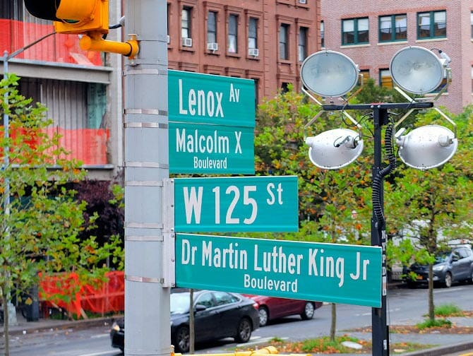 Harlem New York - Straatnaamborden