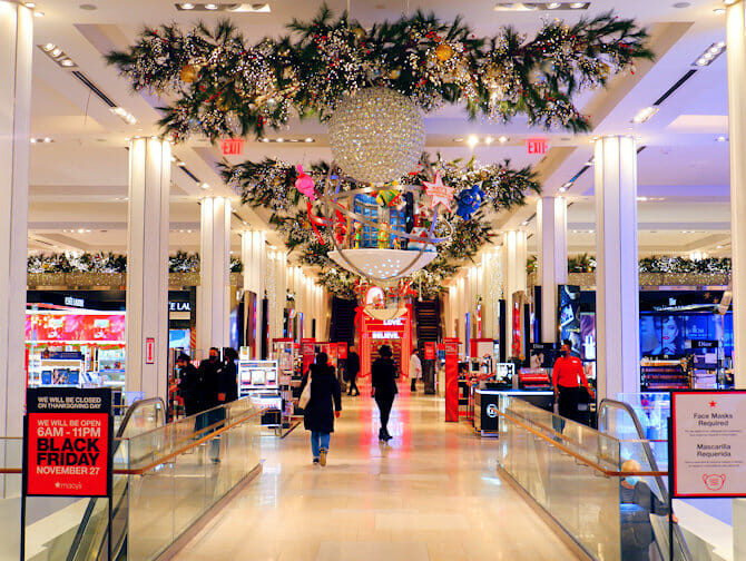 Macy's in New York - Kerstversiering