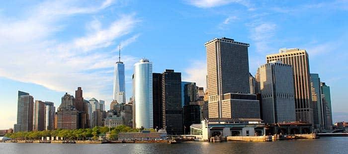 Staten Island in NYC - Manhattan uitzicht