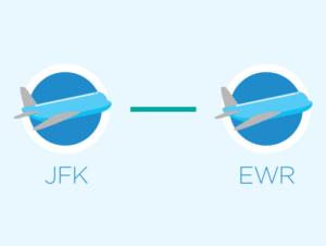 Van JFK naar Newark of Newark naar JFK