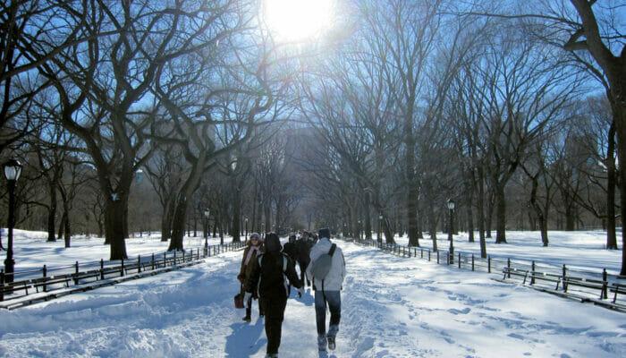 Het weer in New York - Winter