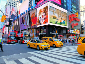taxis in spitsuur in new york