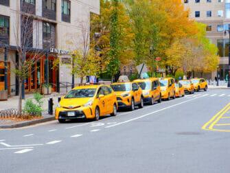 Gele taxi's in de straten van New York