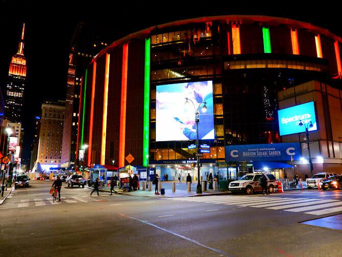Madison Square Garden in New York - Buitenkant