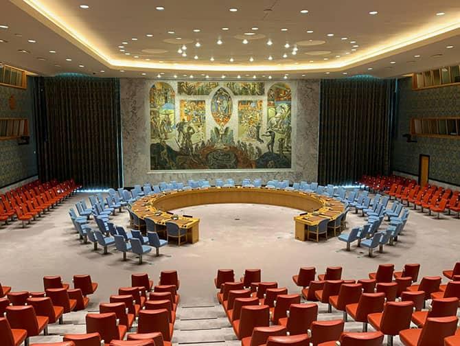 De Verenigde Naties in New York - Kamer van de Veiligheidsraad