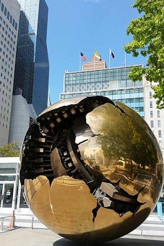 De Verenigde Naties in New York - Wereldbol