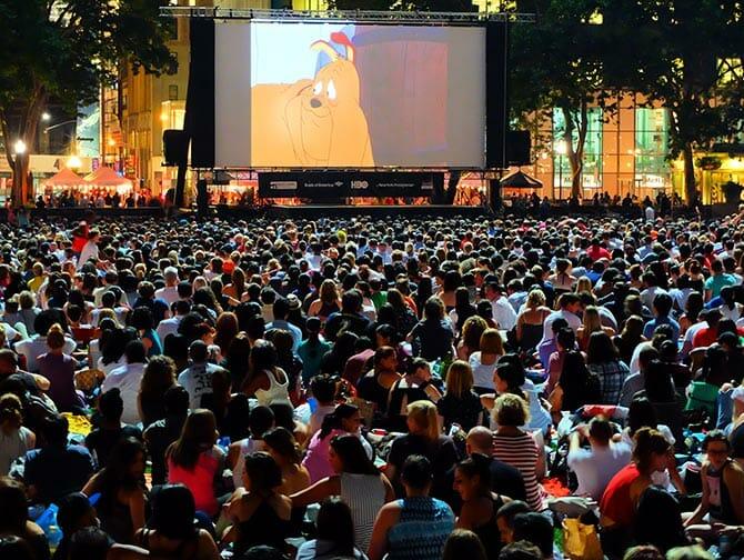 Gratis Films in Bryant Park