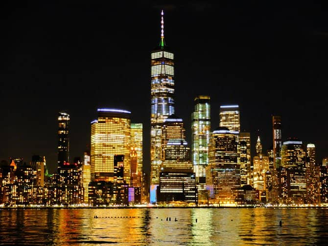 Freedom Tower : One World Trade Center - Avond