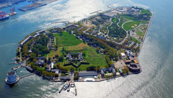 Governors Island in New York - Uitzicht van bovenaf