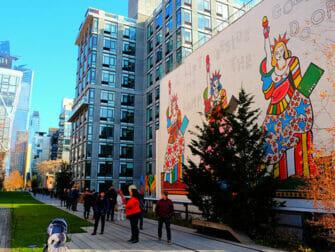 High Line Park in New York - Muurschildering