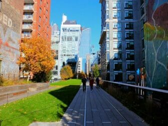 High Line Park in New York - Tussen de gebouwen