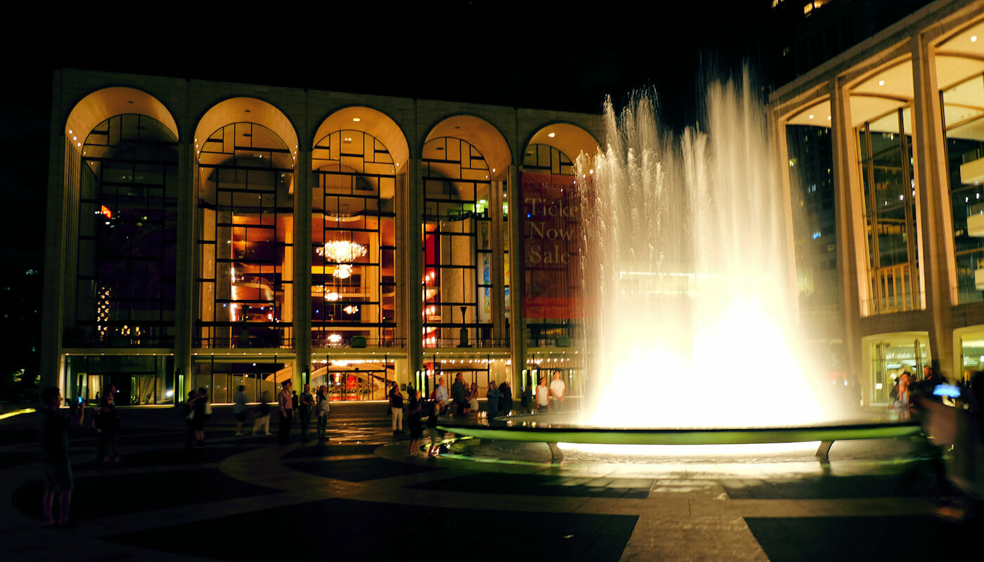 Lincoln Center in New York - Lincoln Center bij nacht
