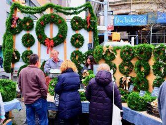 Markten in New York - Kerstdecoratie bij Union Square