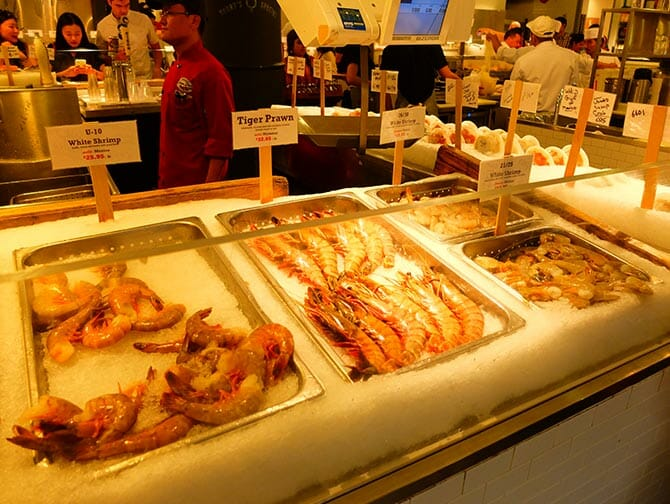 Markten in New York - Zeevruchten bij Chelsea Market