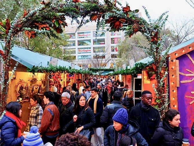Markten in New York - Union Square Christmas Markt