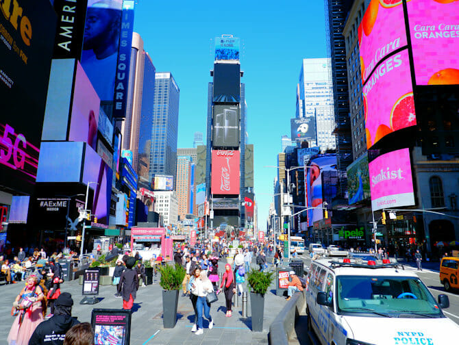 Times Square in New York - Overdag