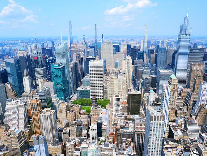 Empire State Building Tickets - Uitzicht Uptown Manhattan