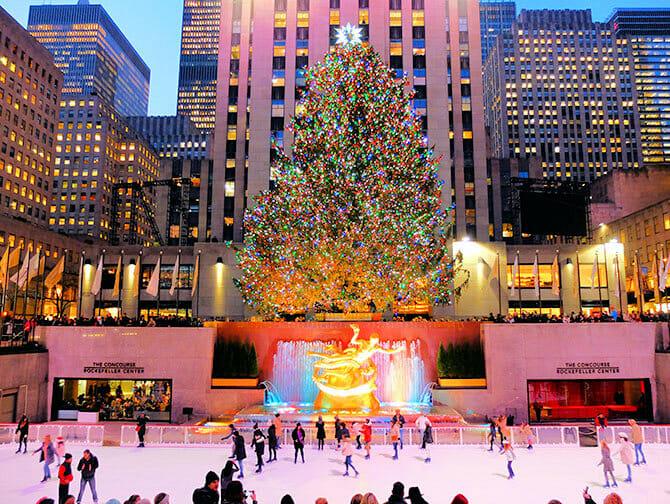Rockefeller Center in New York - Ijsbaan
