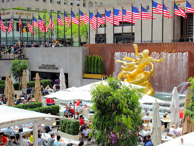 Rockefeller Center in New York - Terras