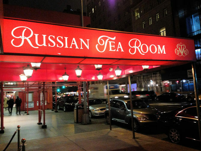 The Russian Tea Room in New York
