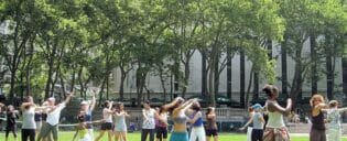 Dansen in bryant park new york gratis