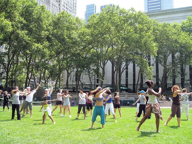 Dansen in bryant park new york gratis