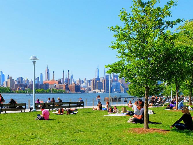 Parken in New York - Domino Park