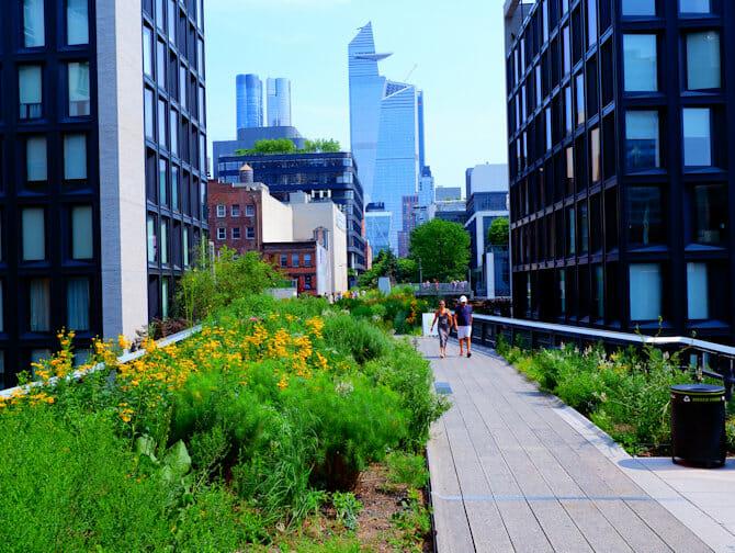 Parken in New York - Zomer in High Line Park