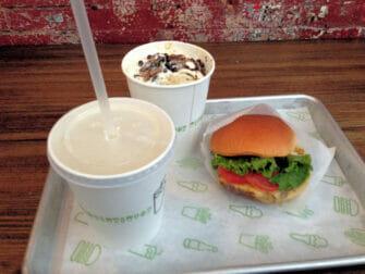 Beste hamburger restaurants in New York - Shake Shack eten