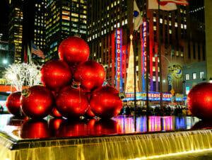 Kerstsfeer in New York
