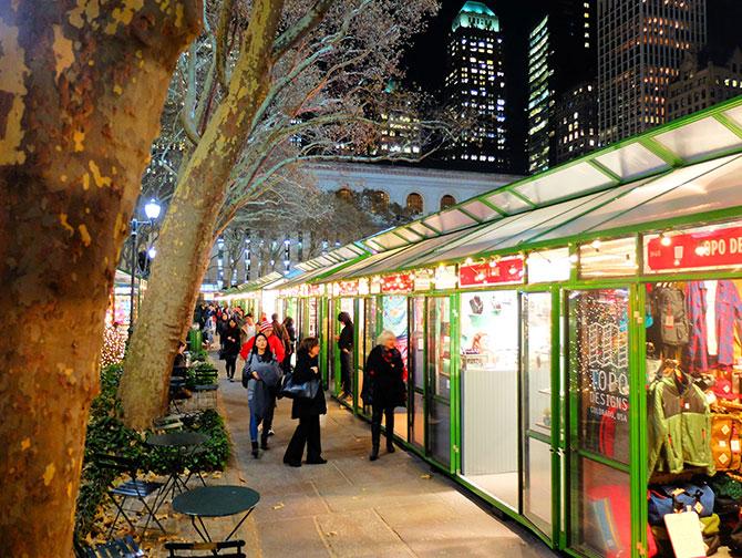 Kerstsfeer in New York - Bryant Park