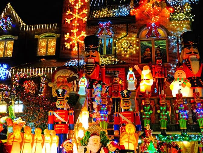 Kerstsfeer in New York - Dyker Heights
