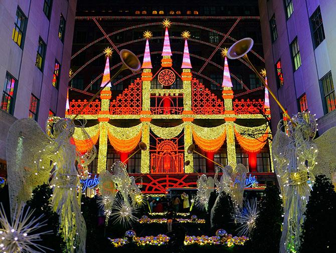 Kerstsfeer in New York - Saks