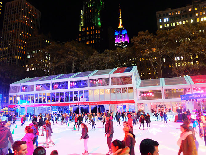 Kerstsfeer in New York - Schaatsen in Bryant Park