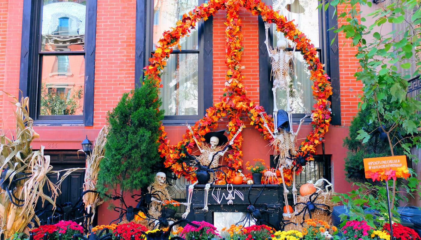 Halloween in New York - Versierd Huis