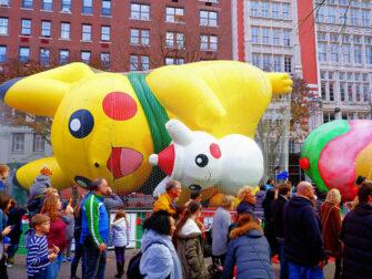 Macy's Thanksgiving Parade in New York - Ballonnen Opblazen
