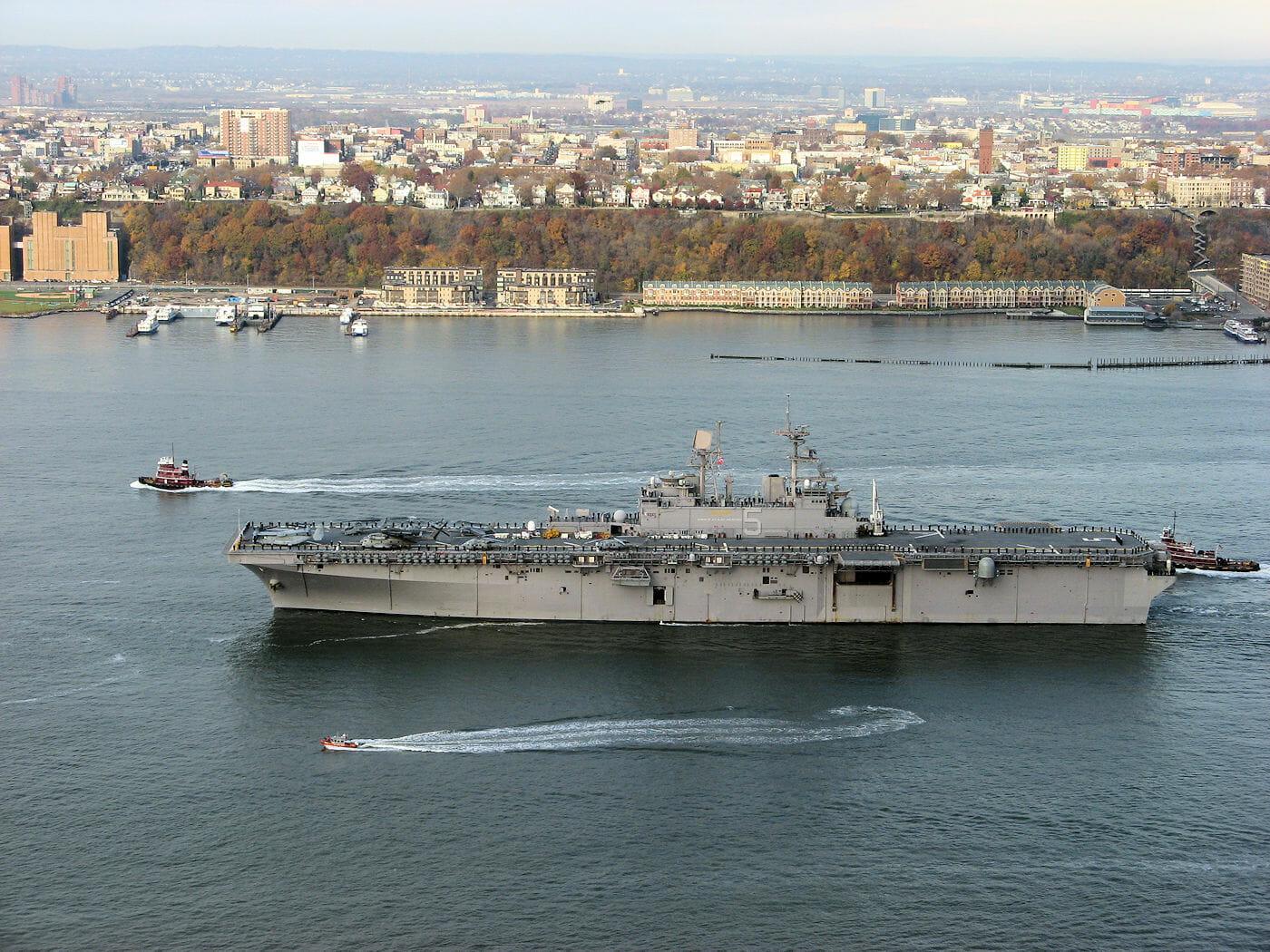new york city fleet week schip