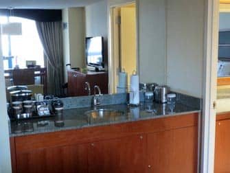 Double Tree Suites Wet Bar in New York