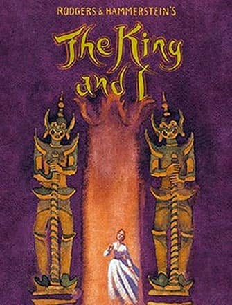 The King and I op Broadway - Poster
