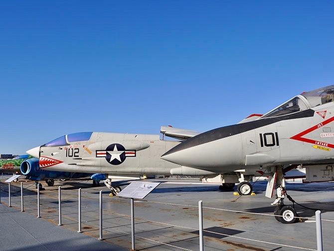 Intrepid Sea, Air and Space Museum in New York - Gevechtsvliegtuigen