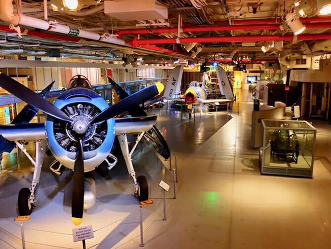 Intrepid Sea, Air and Space Museum in New York - Binnen in het Museum