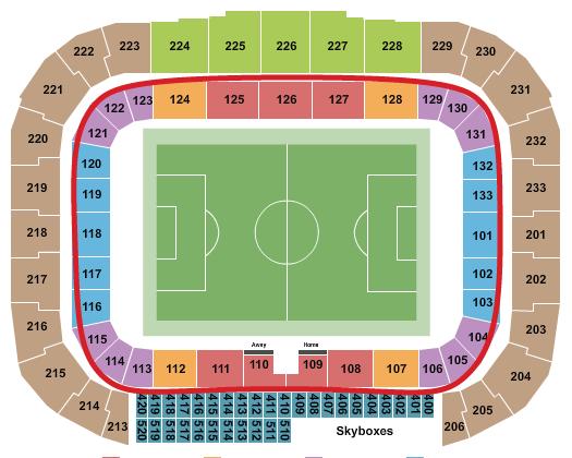 New York Red Bulls Tickets Kopen - Red Bull Arena Plattegrond