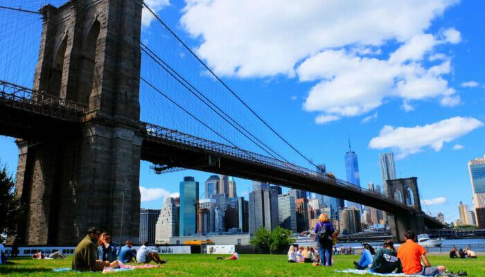 Brooklyn Bridge Park in New York - Relaxen
