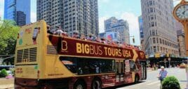 Hop-on Hop-off bus in New York