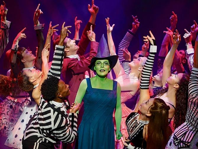 Wicked op Broadway Tickets - Elphaba en Cast